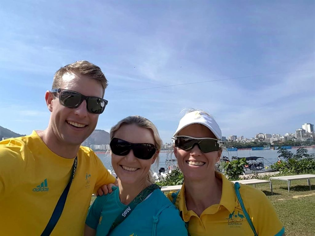 With GC Physio's Myles and Britt at Rio Sprint Kayak