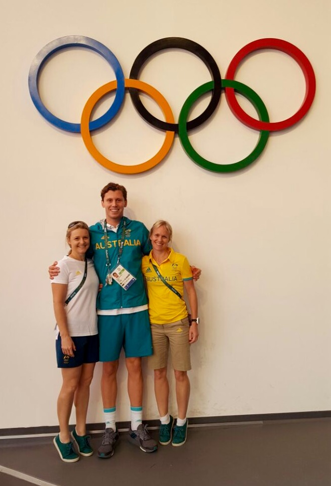 In Rio with Swimmer & local GC client Tommy Fraser Holmes and Britt Caling (Physio).