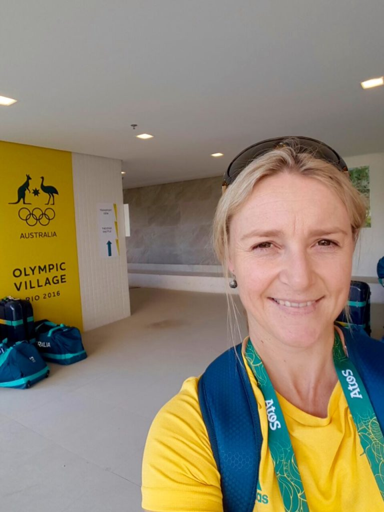 Thea at The Hub (Aussie HQ) - in the Rio Olympic Village