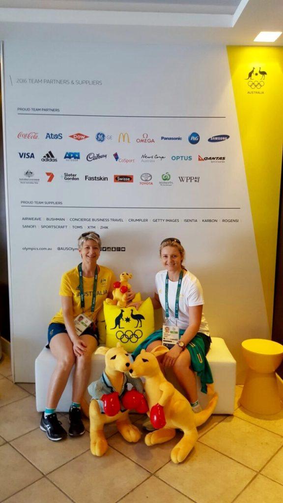 Massage Therapists Thea Dillon & Natasha Brock at The Edge in Rio