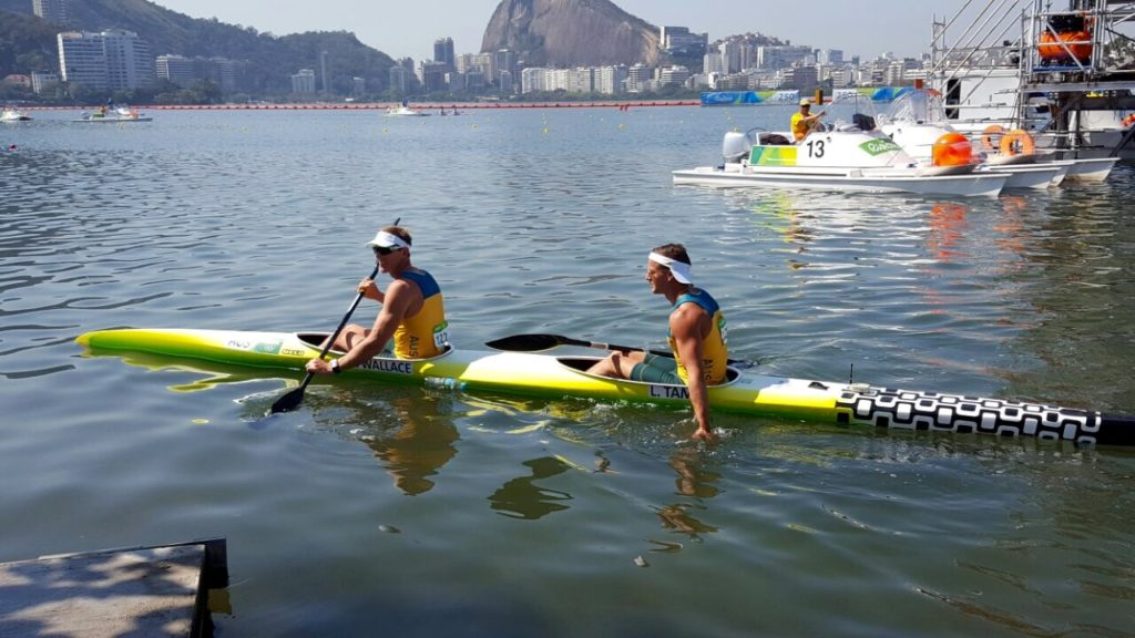 Medallists Kenny Wallace and Lochie Tame in action